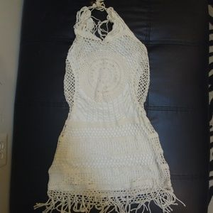 Rocawear Beach Crochet Halter Dress